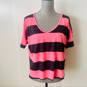 Striped Oversized  T-Shirt Sz M